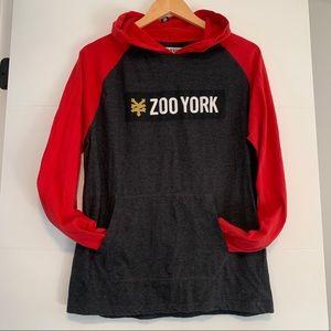 Zoo York   Red & Grey Hoodie